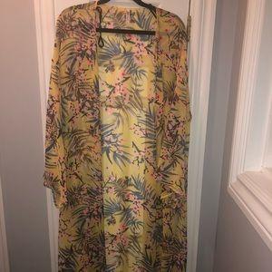 Women's Plus Size Long Kimono